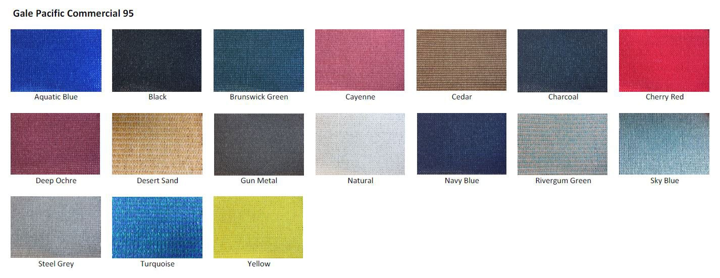 Commercial 95 fabric colours
