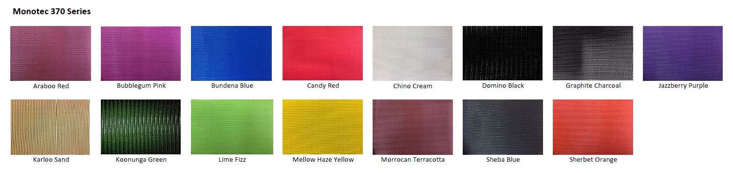 Monotec 370 fabric colours