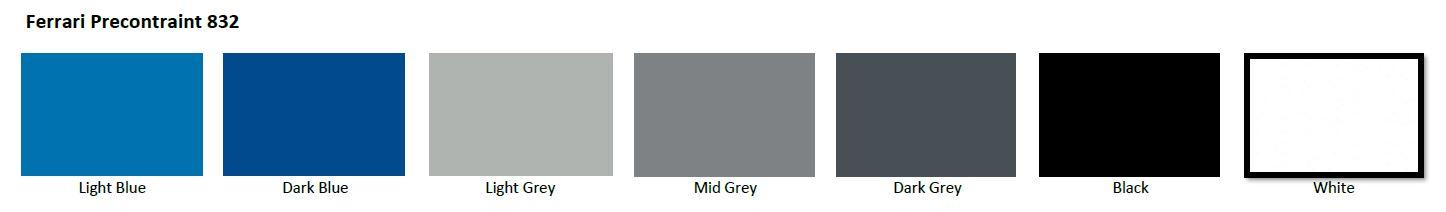 Ferrari 832 fabric colours