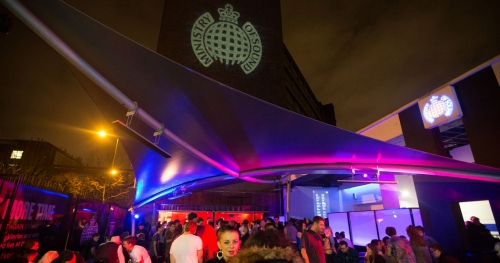 tensile structure in nightclub