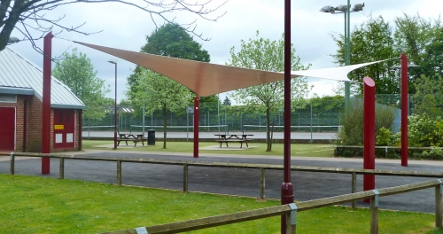 tensile structure in the park