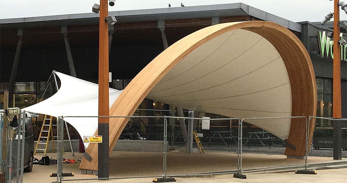 custom form big tensile canopy