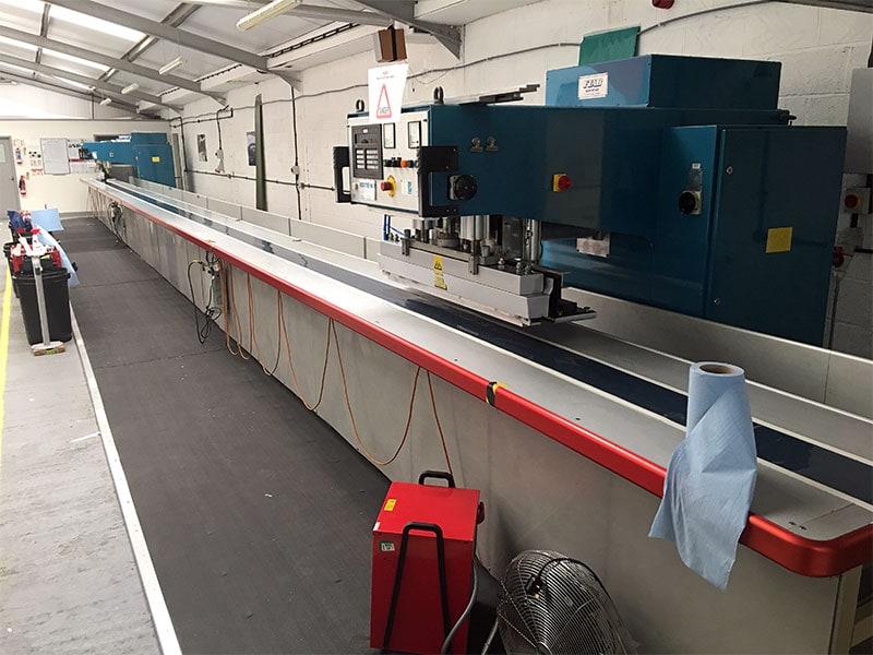 HF welding machine in SD Sails workshop